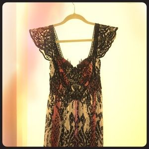 Free people wild snake gown size 2